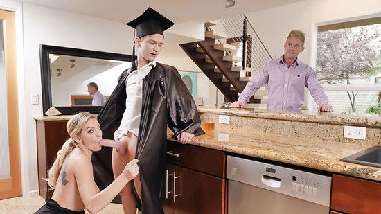 [FamilyStrokes] Kenzie Taylor – Cap And Gown Dick Down