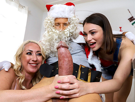 [BigTitsRoundAsses] Janna Hicks, Liv Wild – Santa is Cuming to Town
